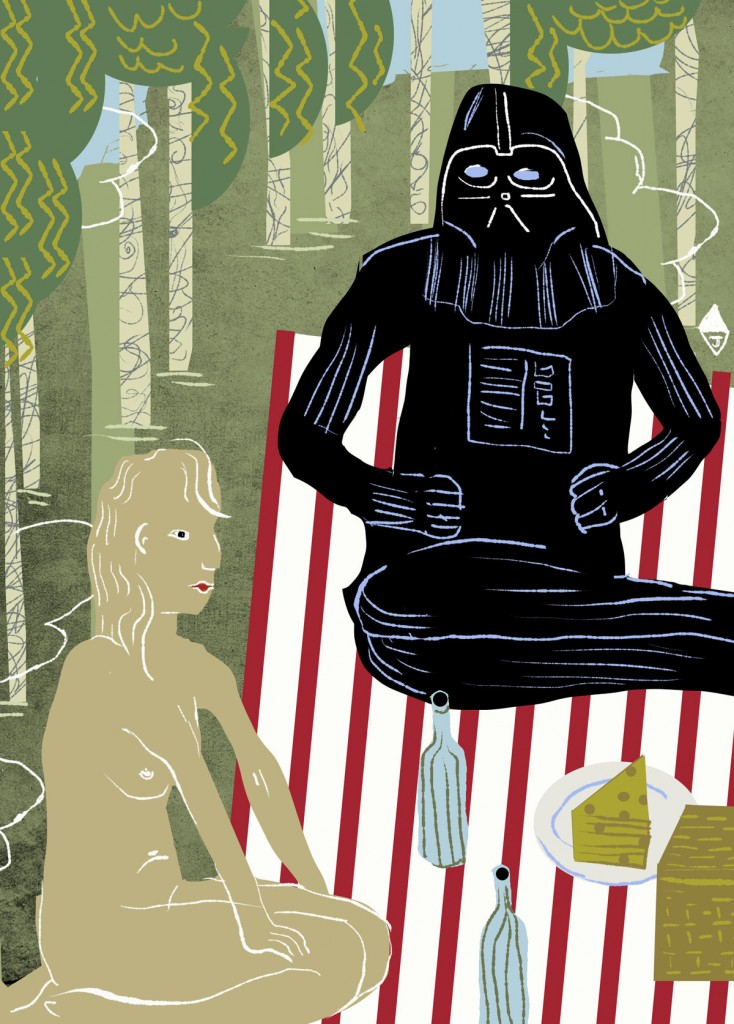 Darth Vader at a Picnic with a Nudist